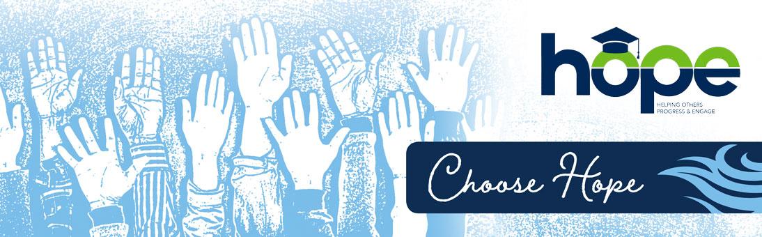 choose hope, hands