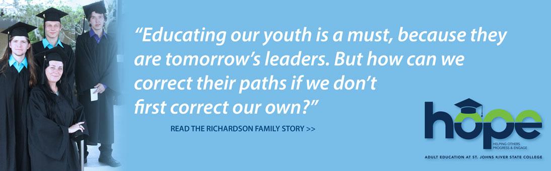 choose hope, Richardson