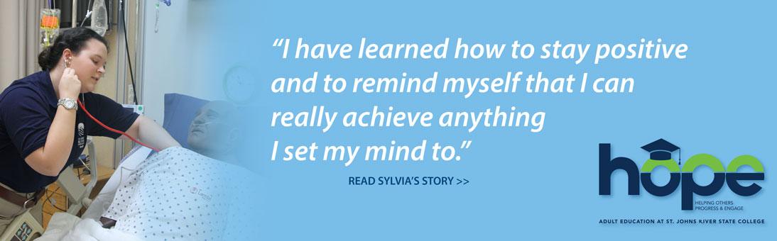 choose hope, Sylvia