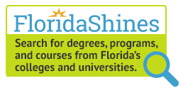 FloridaShines logo, Search for degrees, programs and courses from Florida's colleges and universities.