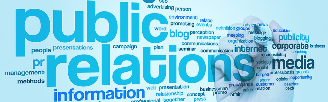 Public Relations word art image