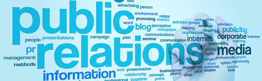 Public Relations word art image