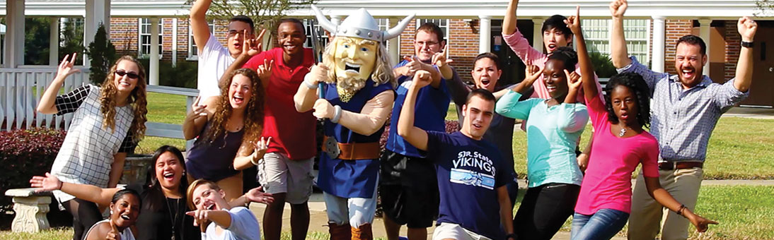 OPC students with Viking