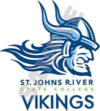 vertical color viking logo