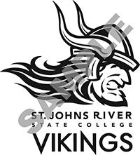 BW vertical viking logo
