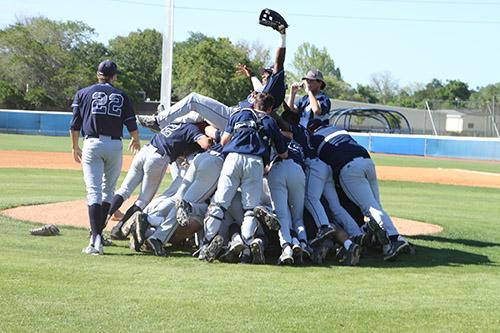 Baseball team dogpile