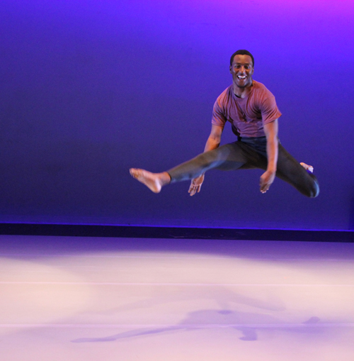 male dancer on stage