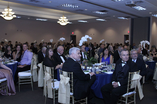 guests at the 60th gala dining room