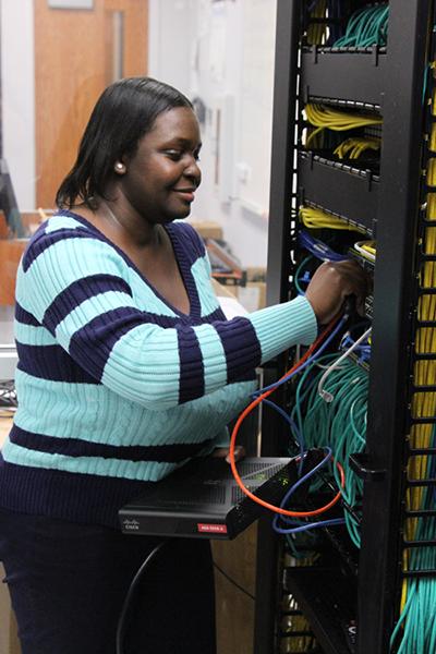 Latoya Preston, Computer Network Engineering Program student