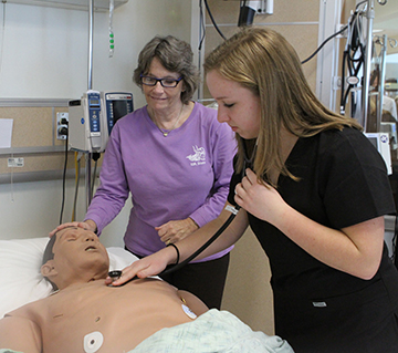 nursing instructor with potential student