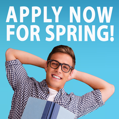 Apply Now for Spring