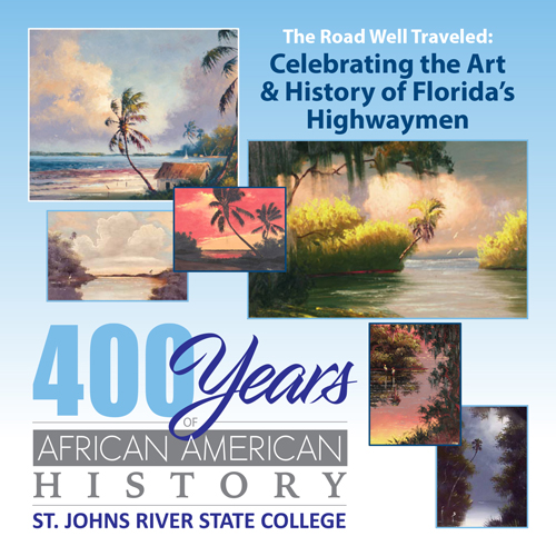 Highwaymen logo, collage of art celebrating Florida's Highwaymen