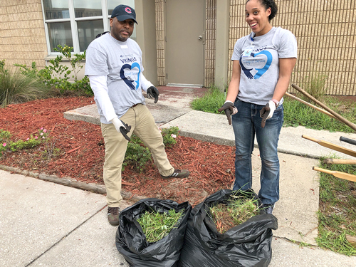 SJR State staff and students volunteer in various service projects
