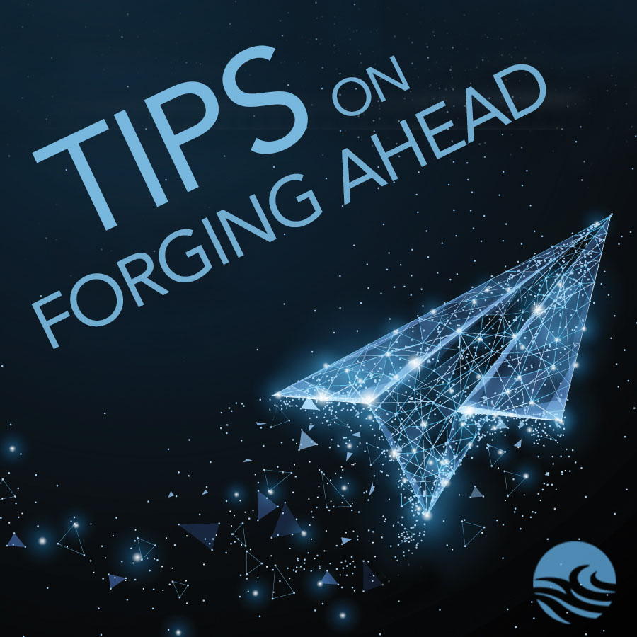 Tips for forging ahead with stylized paper airplane in space
