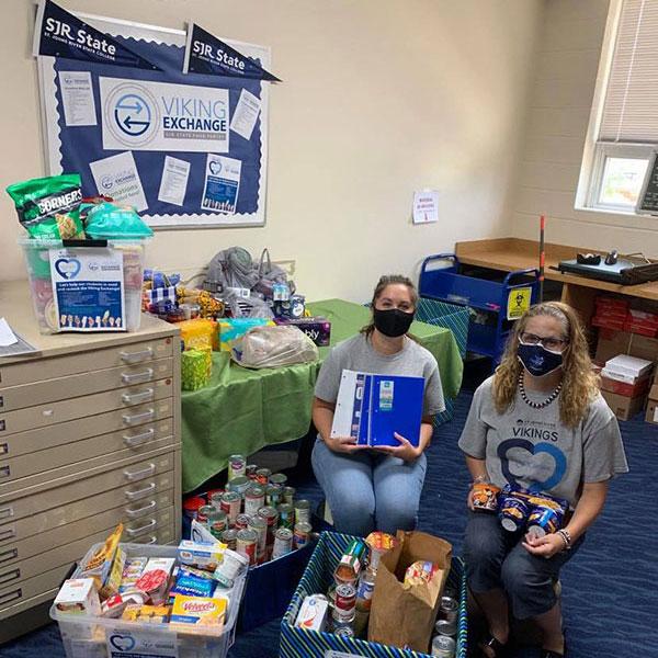Vikings Service food drive donations