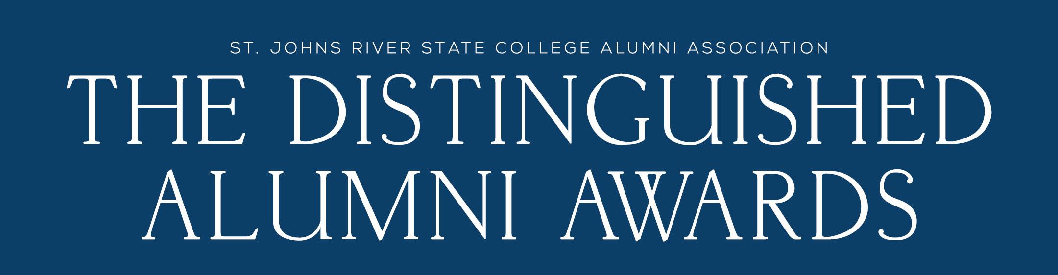The St. Johns River State College Alumni Association The Distinguished Alumni Awards banner