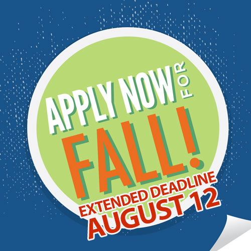 Apply now for Fall, link