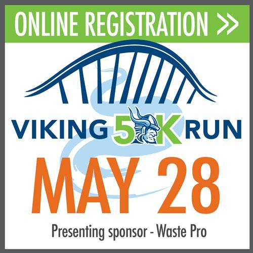 online registration, viking 5k, May 28