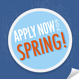 Apply Now for Spring, link